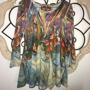 Amma | Colorful Long Sleeve Shirt 1X